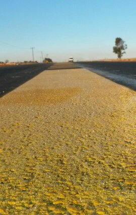 road line marking